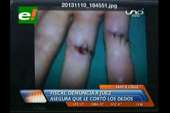 Fiscal de la UVE denuncia a un juez de cortarle los dedos