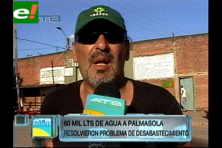 Gobernación abasteció de agua potable al penal de Palmasola