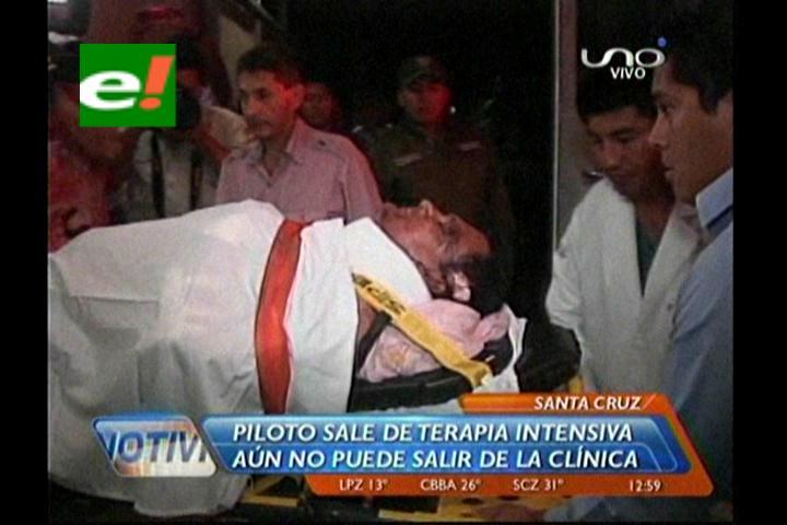 Sale de terapia el piloto de Aerocon que se accidentó en Riberalta