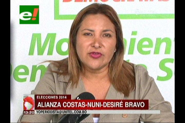 Demócratas logra alianzas con Pedro Nuni y Desireé Bravo