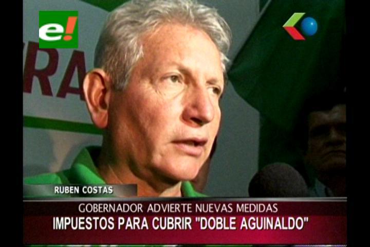 Rubén Costas teme que segundo aguinaldo derive en nuevos impuestos