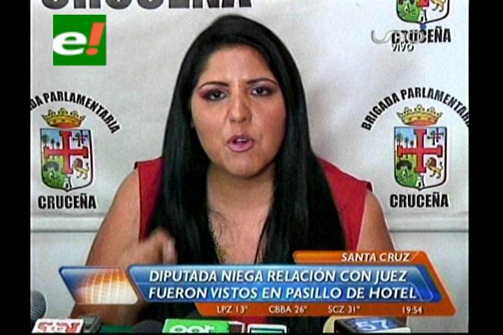 Diputada Echeverría niega relación con el juez Zubieta