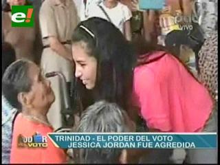 Elecciones Beni: Agreden a Jessica Jordan en confuso hecho