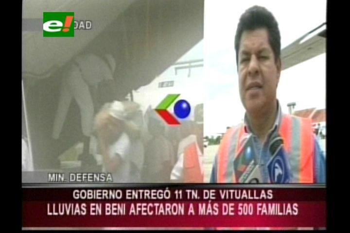 Defensa civil entrega ayuda a los afectados por las inundaciones en San Ignacio de Moxos
