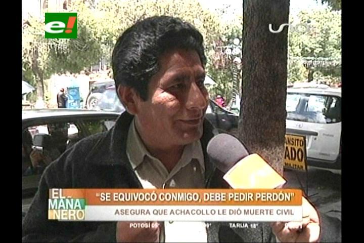 Cutipa pide a la Ministra Achacollo que se disculpe públicamente de las denuncias en su contra