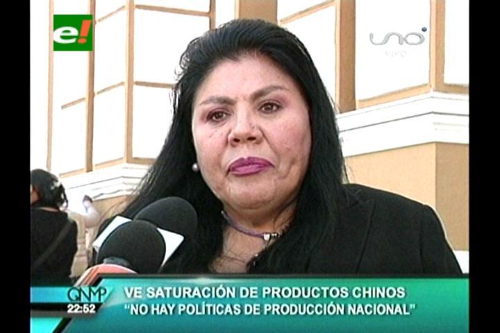 Diputada Piérola ve saturación de productos chinos en Bolivia