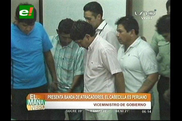 Cae banda de atracadores, el cabecilla es un peruano
