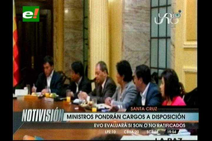 Ministros pondrán sus cargos a disposición del Presidente antes del 22 de enero