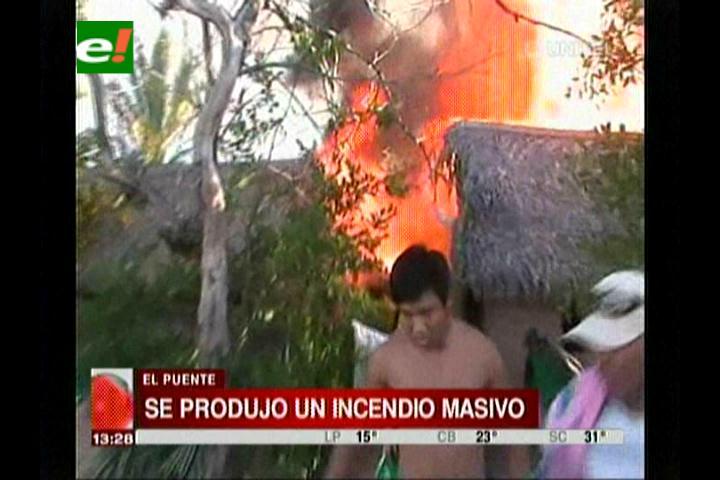 El Puente: Voraz incendio consume más de 7 casas