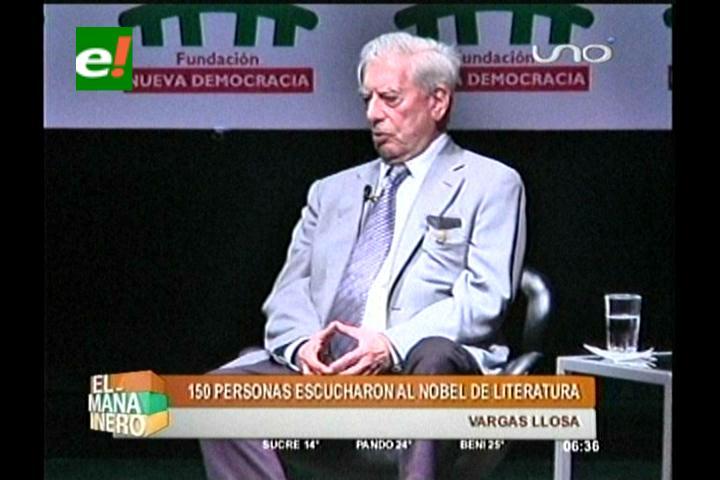 Coloquio: Mario Vargas Llosa se reunió con escritores bolivianos