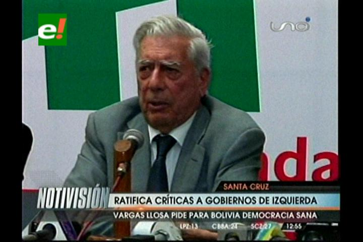 """Mario Vargas Llosa: """"Es una tontería decir que he venido a Bolivia a conspirar, no soy peligroso"""""""
