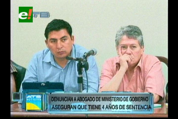 Caso Terrorismo:  Denuncian que asesor del Ministerio de Gobierno tiene condena de 4 años