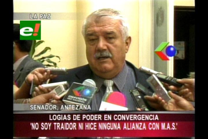 Senador Antezana denuncia logias de poder en Convergencia