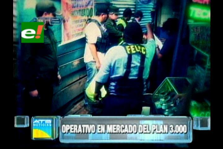 """Santa Cruz: Operativo en los """"cachivacheros"""" del Plan Tres mil"""