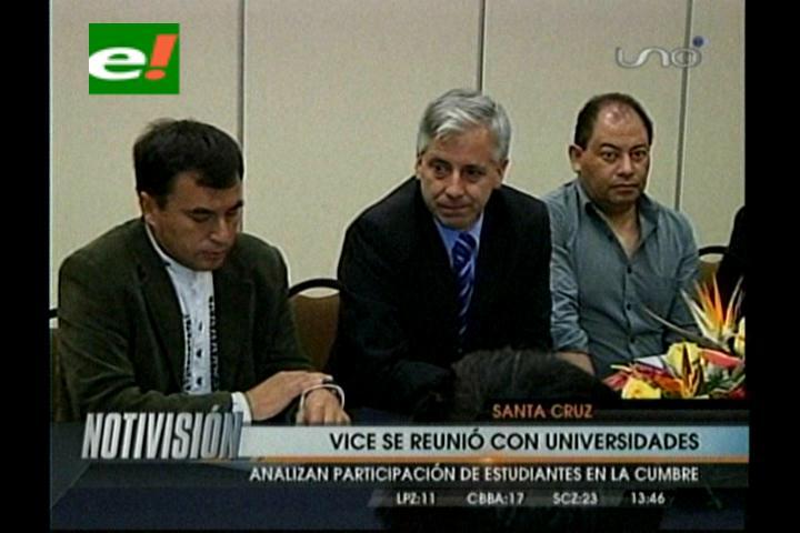 Vicepresidente se reunió con las universidades