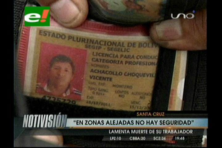 Santa Cruz: Matan a tiros a un repartidor de gaseosas