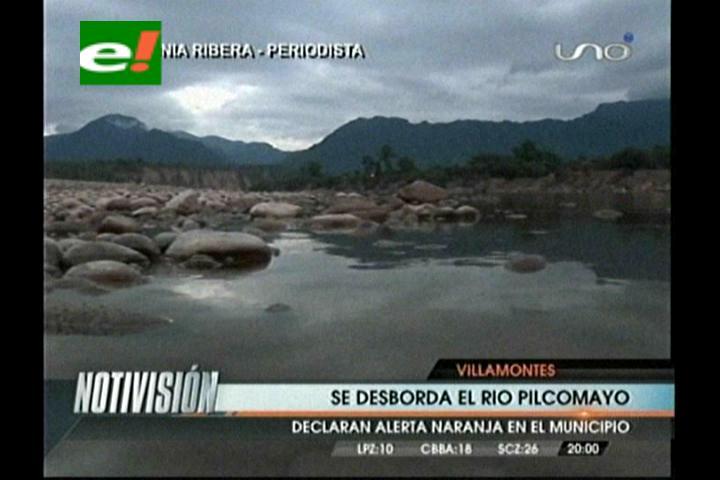 Se desbordó el río Pilcomayo en la zona de Villa Montes
