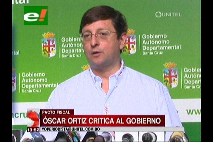 Gobernación cruceña acusa al Gobierno de «rehuir» al Pacto Fiscal