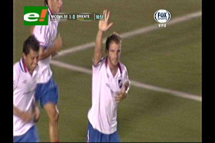 Oriente eliminado de la Libertadores, Nacional lo derrotó 2-0