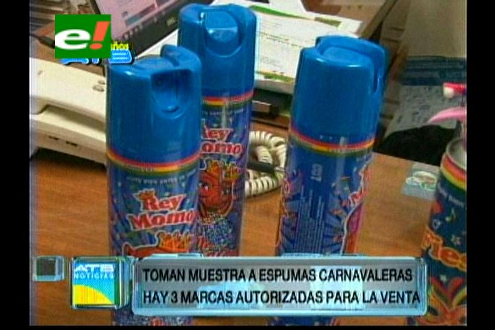 Carnaval 2014: Municipio cruceño advierte con decomisar espumas no autorizadas