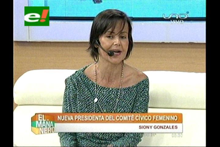 Siony Gonzáles, nueva Presidenta del Comité Cívico Femenino