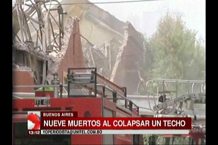 Incendio y derrumbe en depósito bancario en Buenos Aires deja al menos nueve muertos