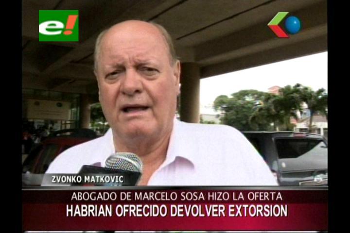 """Matkovic: """"Abogado de Marcelo Soza ofreció devolver el dinero de la extorsión"""""""