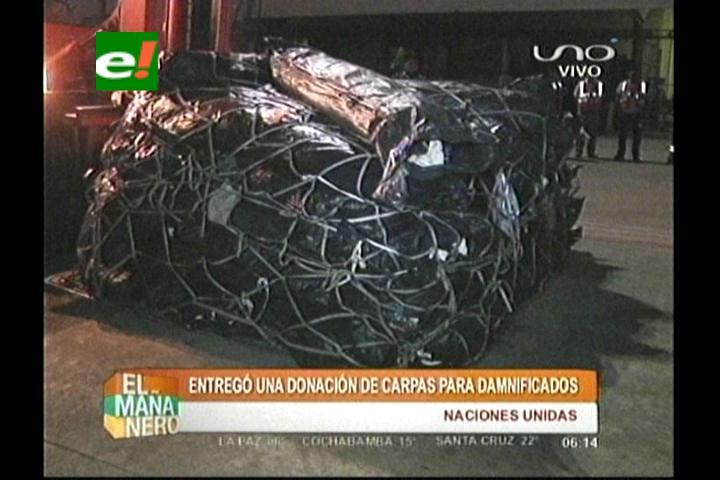 ONU entregó carpas para los damnificados en Beni