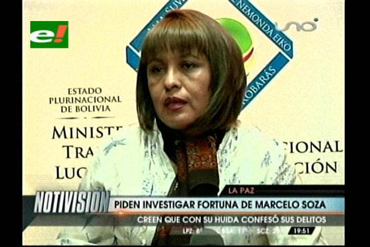Ministra Anticorrupción pide investigar las cuentas de Marcelo Soza