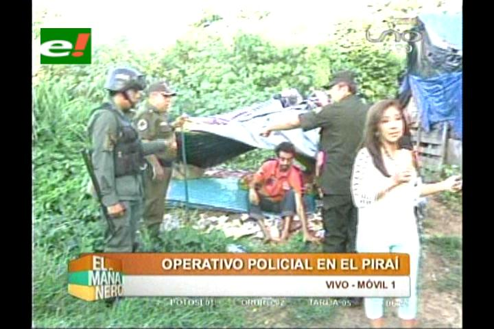 Santa Cruz: Mega operativo en riberas del Piraí logra desalojar a 180 indigentes
