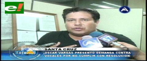 Oscar Vargas demanda a vocales del Poder Judicial por incumplimiento de deberes