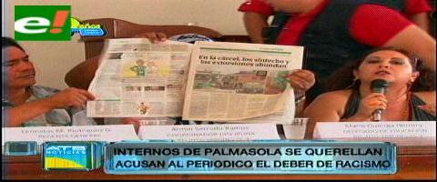 A raíz de un reportaje en El Deber: Reclusos acuden a la Fiscalía por presunta discriminación
