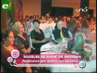 Cena de ángeles tuvo éxito