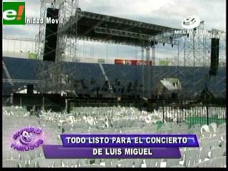 A pocas horas del concierto de Luis Miguel