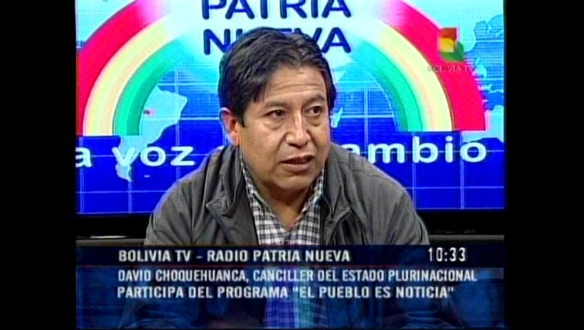 Choquehuanca pide respeto a bolivianos en Argentina