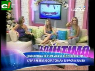 Kathia, Bárbara y Ximena se despidieron de la tv.