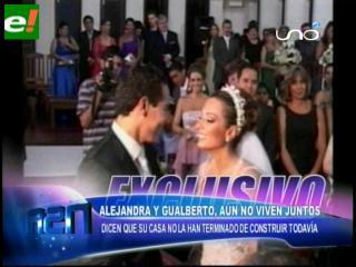 Gualberto y Alejandra aún no viven juntos
