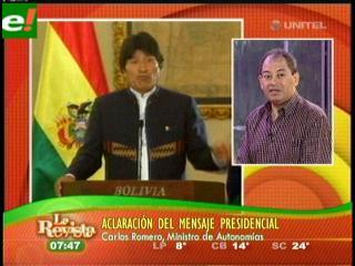 Carlos Romero analiza el discurso de Evo