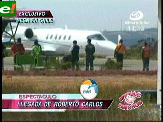 D&F estuvo en la llegada de Roberto Carlos en Viña