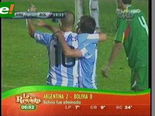 Bolivia perdía 2-0 y se fue la luz