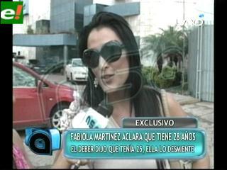 Fabiola Martínez aclara que tiene 28 años