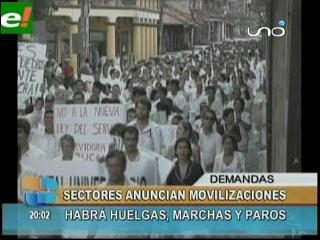 Semana de movilizaciones en Santa Cruz