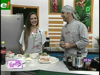 Lorena Villalobos demostró su destreza en la cocina