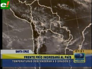 Pronostican bajas temperatura en Santa Cruz