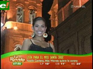 Yoselín Zenteno en carrera para el Miss Santa Cruz 2011
