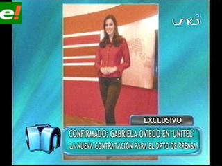 Gabriela Oviedo en Unitel