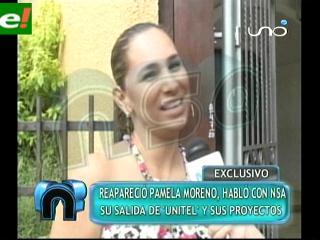 Pamela Moreno explica los motivos de la salida de Unitel