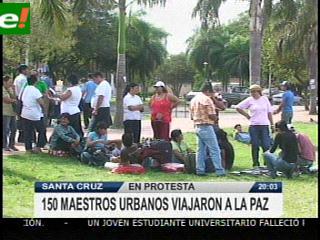 Maestros cruceños viajan a La Paz, COB quiere diálogo con Evo