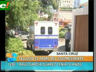 Hoy trasladan restos de Raúl García, padre de Álvaro García Linera