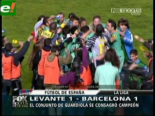 Barcelona tricampeón de la liga española